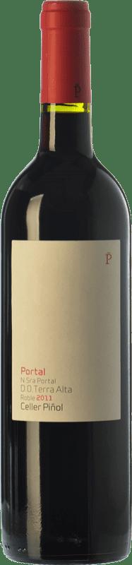 14,95 € Envío gratis | Vino tinto Piñol Nuestra Señora del Portal Joven D.O. Terra Alta Cataluña España Merlot, Syrah, Garnacha, Cariñena Botella 75 cl