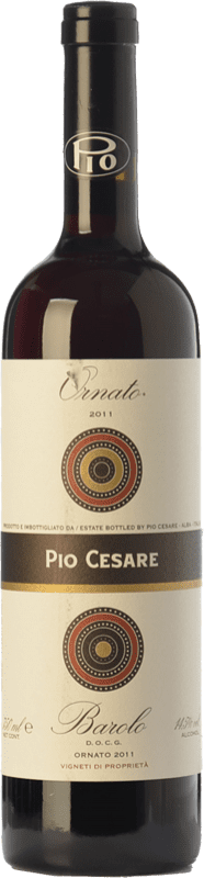 98,95 € 免费送货   红酒 Pio Cesare Ornato D.O.C.G. Barolo 皮埃蒙特 意大利 Nebbiolo 瓶子 75 cl