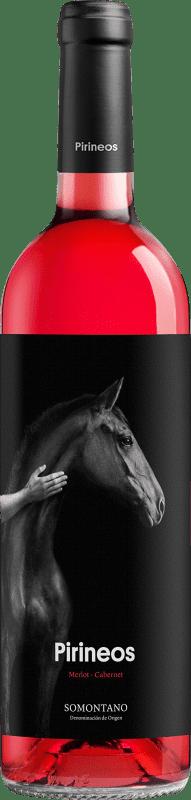 7,95 € 免费送货 | 玫瑰酒 Pirineos Tempranillo-Cabernet D.O. Somontano 阿拉贡 西班牙 Tempranillo, Cabernet Sauvignon 瓶子 75 cl