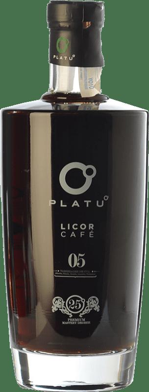 17,95 € Envío gratis | Licor de hierbas Platu Licor de Café Galicia España Botella 70 cl