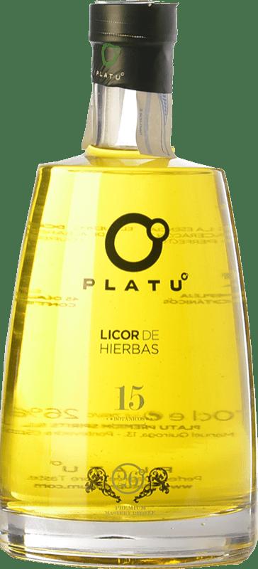 18,95 € Envío gratis | Licor de hierbas Platu Galicia España Botella 70 cl