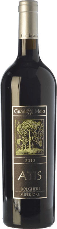 49,95 € Free Shipping | Red wine Guado al Melo Atis Superiore D.O.C. Bolgheri Tuscany Italy Merlot, Cabernet Sauvignon, Cabernet Franc Bottle 75 cl