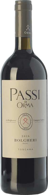 27,95 € | Red wine Podere Orma Passi I.G.T. Toscana Tuscany Italy Merlot, Cabernet Sauvignon, Cabernet Franc Bottle 75 cl