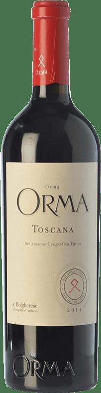 179,95 € Free Shipping | Red wine Podere Orma I.G.T. Toscana Tuscany Italy Merlot, Cabernet Sauvignon, Cabernet Franc Magnum Bottle 1,5 L