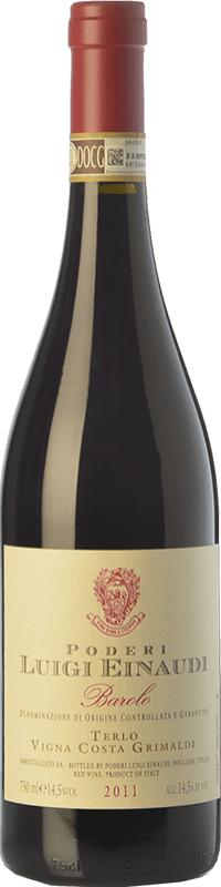 59,95 € Free Shipping | Red wine Einaudi Terlo Vigna Costa Grimaldi D.O.C.G. Barolo Piemonte Italy Nebbiolo Bottle 75 cl