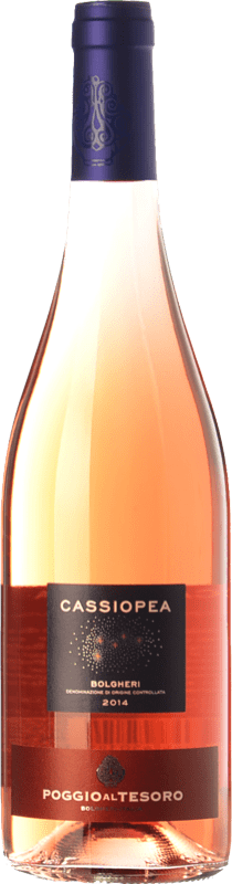 9,95 € 免费送货 | 玫瑰酒 Poggio al Tesoro Cassiopea D.O.C. Bolgheri 托斯卡纳 意大利 Merlot, Cabernet Franc 瓶子 75 cl