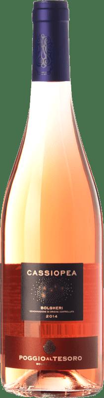 9,95 € Free Shipping | Rosé wine Poggio al Tesoro Cassiopea D.O.C. Bolgheri Tuscany Italy Merlot, Cabernet Franc Bottle 75 cl