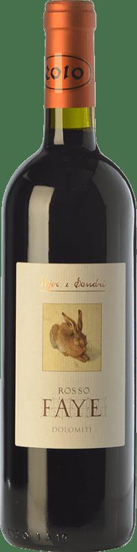 32,95 € Free Shipping | Red wine Pojer e Sandri Rosso Faye I.G.T. Vigneti delle Dolomiti Trentino Italy Merlot, Cabernet Sauvignon, Cabernet Franc, Lagrein Bottle 75 cl