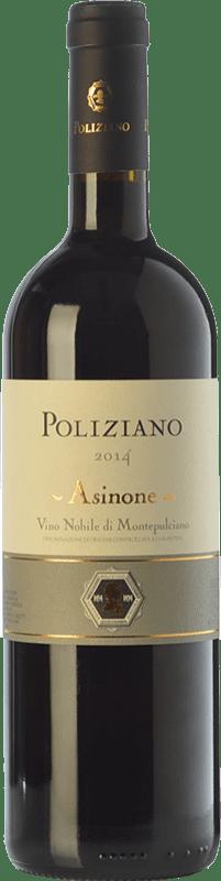 61,95 € Envío gratis | Vino tinto Poliziano Asinone D.O.C.G. Vino Nobile di Montepulciano Toscana Italia Merlot, Sangiovese, Colorino Botella 75 cl