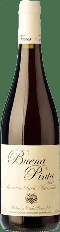 17,95 € Envío gratis | Vino tinto Ponce Buena Pinta Joven D.O. Manchuela Castilla la Mancha España Garnacha, Moravia Agria Botella 75 cl