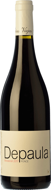 7,95 € 免费送货 | 红酒 Ponce Depaula Joven I.G.P. Vino de la Tierra de Castilla 卡斯蒂利亚 - 拉曼恰 西班牙 Monastrell 瓶子 75 cl