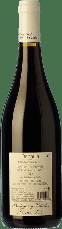 9,95 € Free Shipping   Red wine Ponce Depaula Joven I.G.P. Vino de la Tierra de Castilla Castilla la Mancha Spain Monastrell Bottle 75 cl
