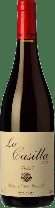 17,95 € Envío gratis | Vino tinto Ponce J. Antonio La Casilla Crianza D.O. Manchuela Castilla la Mancha España Bobal Botella 75 cl