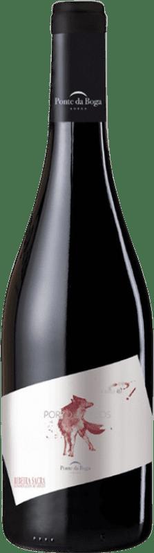 27,95 € Free Shipping | Red wine Ponte da Boga Porto de Lobos Crianza D.O. Ribeira Sacra Galicia Spain Brancellao Bottle 75 cl