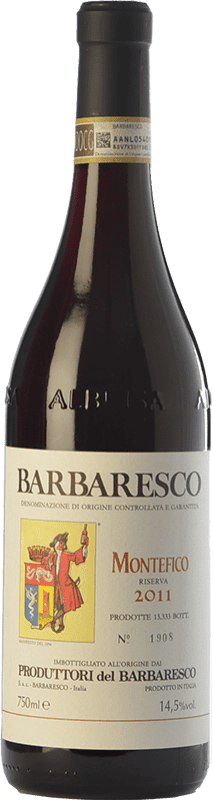 58,95 € | Red wine Produttori del Barbaresco Montefico D.O.C.G. Barbaresco Piemonte Italy Nebbiolo Bottle 75 cl