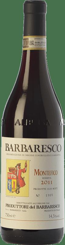 59,95 € Envío gratis | Vino tinto Produttori del Barbaresco Montefico D.O.C.G. Barbaresco Piemonte Italia Nebbiolo Botella 75 cl