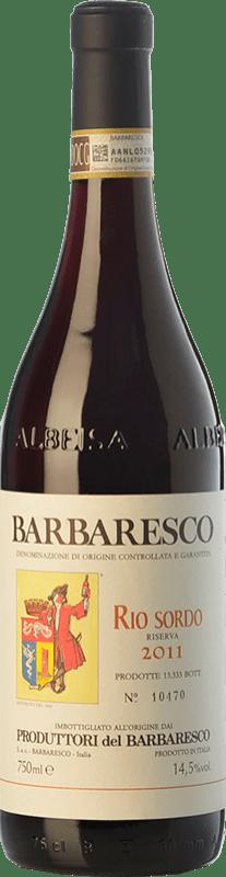 47,95 € Envío gratis | Vino tinto Produttori del Barbaresco Rio Sordo D.O.C.G. Barbaresco Piemonte Italia Nebbiolo Botella 75 cl