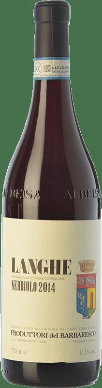 16,95 € Envío gratis | Vino tinto Produttori del Barbaresco D.O.C. Langhe Piemonte Italia Nebbiolo Botella 75 cl