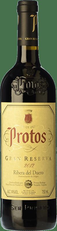 42,95 € 免费送货 | 红酒 Protos Gran Reserva D.O. Ribera del Duero 卡斯蒂利亚莱昂 西班牙 Tempranillo 瓶子 75 cl