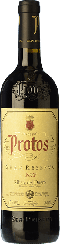 42,95 € Free Shipping | Red wine Protos Gran Reserva D.O. Ribera del Duero Castilla y León Spain Tempranillo Bottle 75 cl