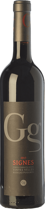 11,95 € Free Shipping | Red wine Puiggròs Signes Crianza D.O. Catalunya Catalonia Spain Grenache, Sumoll Bottle 75 cl