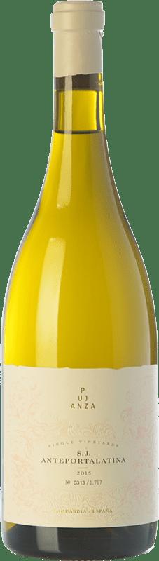 59,95 € Envío gratis | Vino blanco Pujanza Anteportalatina Crianza D.O.Ca. Rioja La Rioja España Viura Botella 75 cl