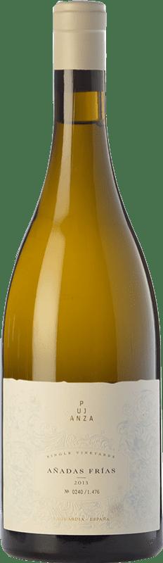 98,95 € Envío gratis | Vino blanco Pujanza Añadas Frías Crianza D.O.Ca. Rioja La Rioja España Viura Botella 75 cl