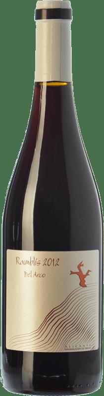 12,95 € 免费送货 | 红酒 Bernabé Ramblis Joven D.O. Alicante 巴伦西亚社区 西班牙 Forcayat del Arco 瓶子 75 cl