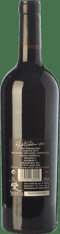 18,95 € Free Shipping | Red wine Rafael Cambra Uno Crianza D.O. Valencia Valencian Community Spain Monastrell Bottle 75 cl