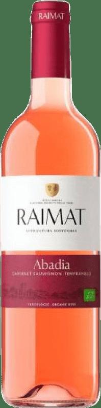 8,95 € Free Shipping | Rosé wine Raimat Abadia Rosé D.O. Costers del Segre Catalonia Spain Tempranillo, Cabernet Sauvignon Bottle 75 cl
