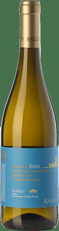 11,95 € Free Shipping   White wine Rallo Evrò I.G.T. Terre Siciliane Sicily Italy Insolia Bottle 75 cl