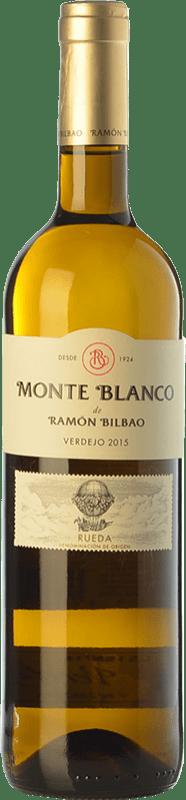 8,95 € 免费送货 | 白酒 Ramón Bilbao Monte D.O. Rueda 卡斯蒂利亚莱昂 西班牙 Verdejo 瓶子 75 cl