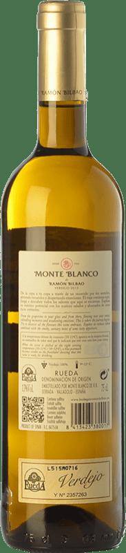6,95 € Free Shipping | White wine Ramón Bilbao Monte D.O. Rueda Castilla y León Spain Verdejo Bottle 75 cl