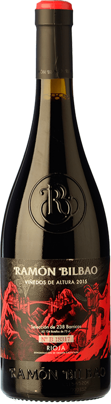 12,95 € Free Shipping | Red wine Ramón Bilbao Viñedos de Altura Crianza D.O.Ca. Rioja The Rioja Spain Tempranillo, Grenache Bottle 75 cl