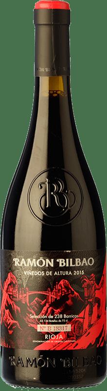 12,95 € Envío gratis | Vino tinto Ramón Bilbao Viñedos de Altura Crianza D.O.Ca. Rioja La Rioja España Tempranillo, Garnacha Botella 75 cl