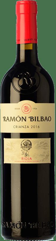 9,95 € Envío gratis | Vino tinto Ramón Bilbao Crianza D.O.Ca. Rioja La Rioja España Tempranillo Botella 75 cl