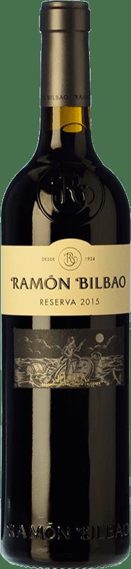 13,95 € Envío gratis | Vino tinto Ramón Bilbao Reserva D.O.Ca. Rioja La Rioja España Tempranillo, Graciano, Mazuelo Botella 75 cl