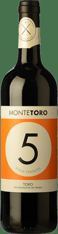 9,95 € 免费送货 | 红酒 Ramón Ramos Monte Toro Roble D.O. Toro 卡斯蒂利亚莱昂 西班牙 Tinta de Toro 瓶子 75 cl
