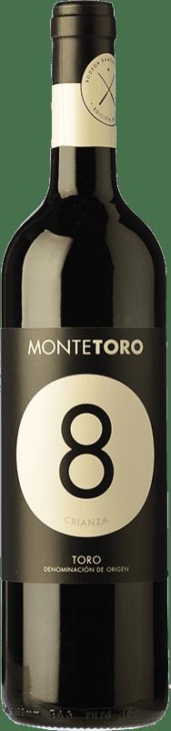 9,95 € Envío gratis | Vino tinto Ramón Ramos Monte Toro Selección Crianza D.O. Toro Castilla y León España Tinta de Toro Botella 75 cl