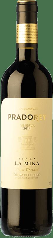 27,95 € Envío gratis | Vino tinto Ventosilla PradoRey Reserva D.O. Ribera del Duero Castilla y León España Tempranillo, Merlot, Cabernet Sauvignon Botella 75 cl