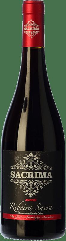 9,95 € Free Shipping | Red wine Regina Viarum Sacrima Mencia Joven D.O. Ribeira Sacra Galicia Spain Mencía Bottle 75 cl