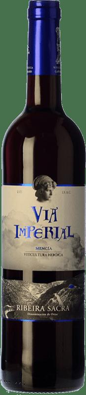 9,95 € Free Shipping | Red wine Regina Viarum Vía Imperial Joven D.O. Ribeira Sacra Galicia Spain Mencía Bottle 75 cl
