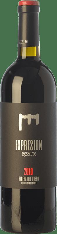36,95 € Envoi gratuit | Vin rouge Resalte Expresión Reserva D.O. Ribera del Duero Castille et Leon Espagne Tempranillo Bouteille 75 cl