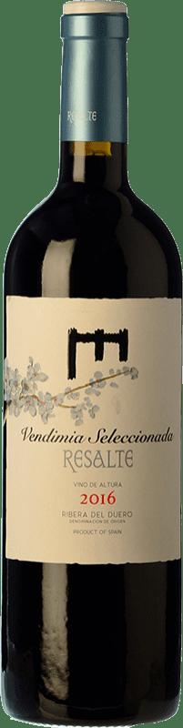 14,95 € Free Shipping | Red wine Resalte Vendimia Seleccionada Joven D.O. Ribera del Duero Castilla y León Spain Tempranillo Bottle 75 cl