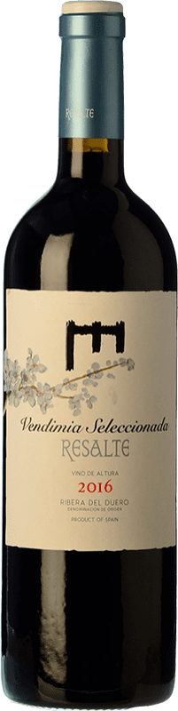 14,95 € Envoi gratuit | Vin rouge Resalte Vendimia Seleccionada Joven D.O. Ribera del Duero Castille et Leon Espagne Tempranillo Bouteille 75 cl