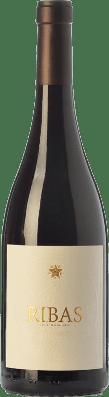 16,95 € Free Shipping | Red wine Ribas Negre Crianza I.G.P. Vi de la Terra de Mallorca Balearic Islands Spain Merlot, Syrah, Cabernet Sauvignon, Mantonegro Bottle 75 cl