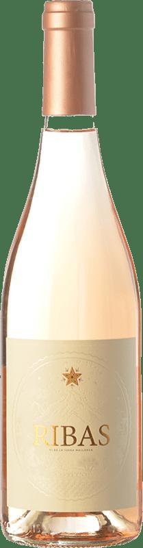 14,95 € Free Shipping | Rosé wine Ribas Rosat I.G.P. Vi de la Terra de Mallorca Balearic Islands Spain Callet, Mantonegro, Gargollassa Bottle 75 cl