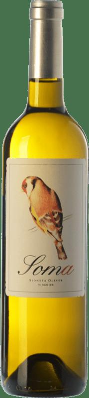 18,95 € Free Shipping | White wine Ribas Soma Crianza I.G.P. Vi de la Terra de Mallorca Balearic Islands Spain Viognier Bottle 75 cl