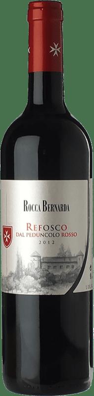 12,95 € Free Shipping | Red wine Rocca Bernarda Refosco D.O.C. Colli Orientali del Friuli Friuli-Venezia Giulia Italy Riflesso dal Peduncolo Rosso Bottle 75 cl