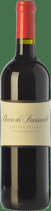 62,95 € Free Shipping | Red wine Rocca di Frassinello D.O.C. Maremma Toscana Tuscany Italy Merlot, Cabernet Sauvignon, Sangiovese Bottle 75 cl